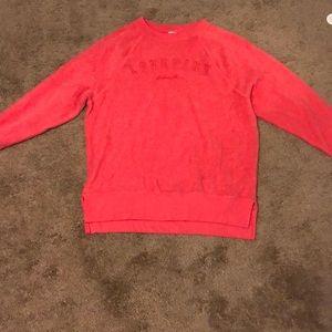 Oversized pink sweatshirt